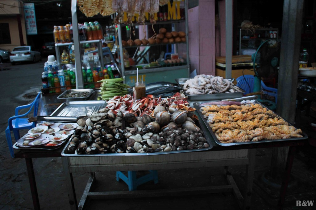 La spécialité culinaire de l'endroit : les fruits de mer