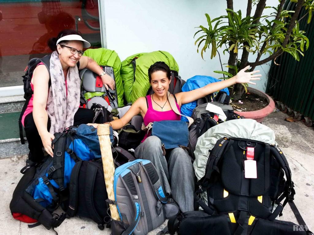 Voyager à 7, voyager à 15 sacs