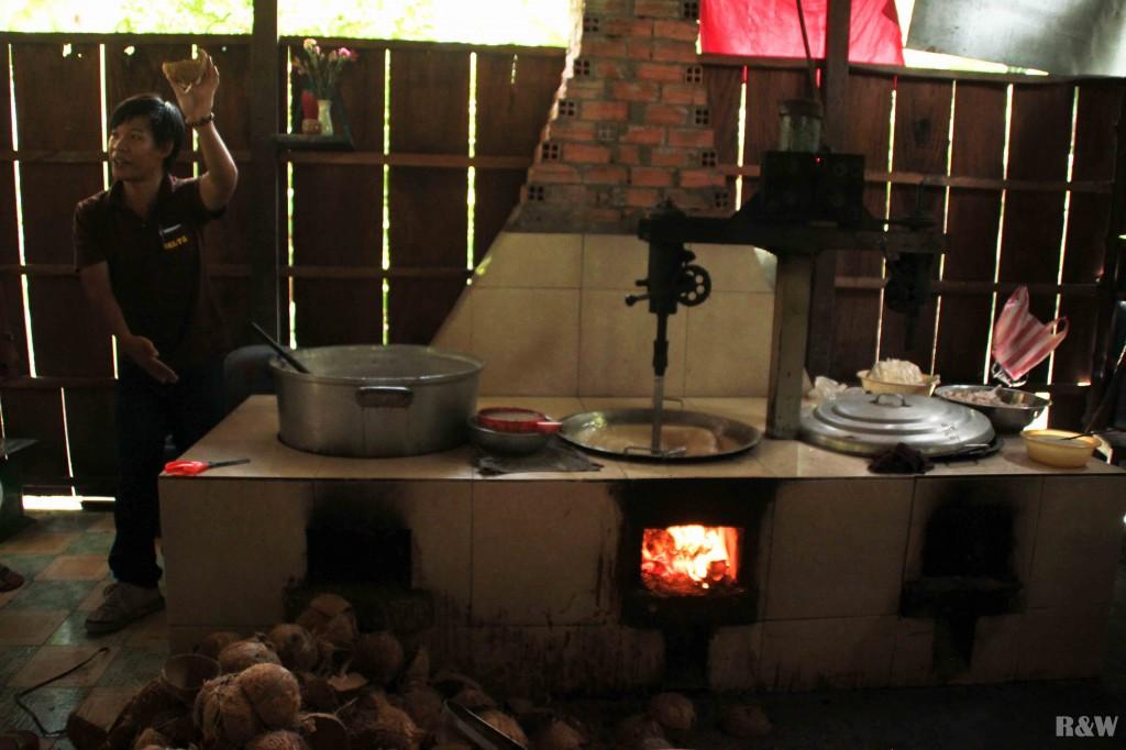 La fabrique de bonbons à la noix de coco