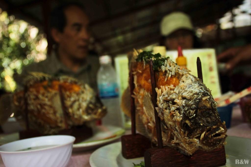 Les poissons du Mékong grillés au barbecue
