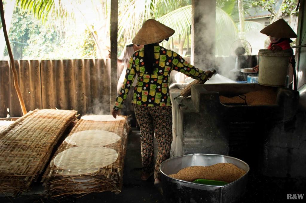 Fabrication de nouilles de riz