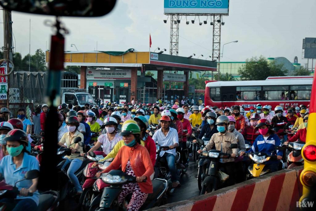 Beaucoup de scooters du côté de Saigon ?
