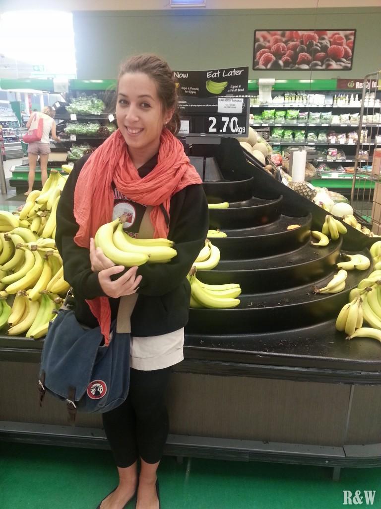 En toute fin de chaîne, des bananes à Woolworths