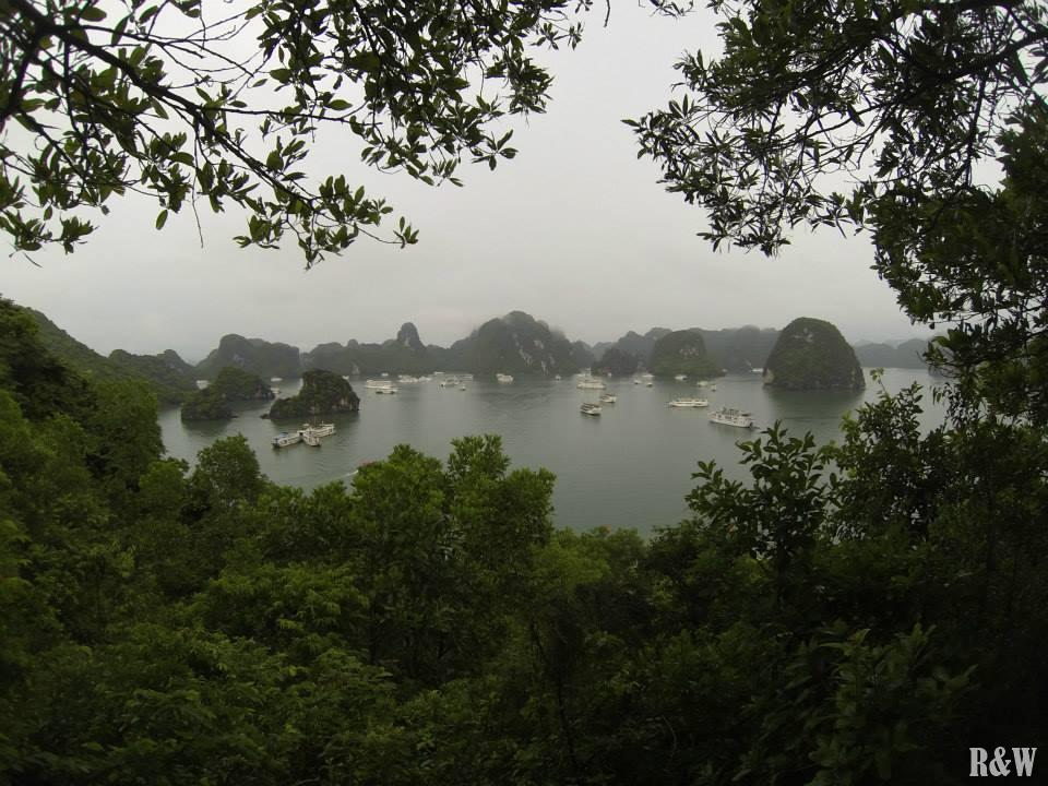 Vue sur la zone touristique de la baie d'Along