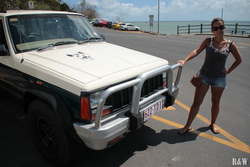 Notre 4x4 prêt à prendre la barge vers Fraser Island