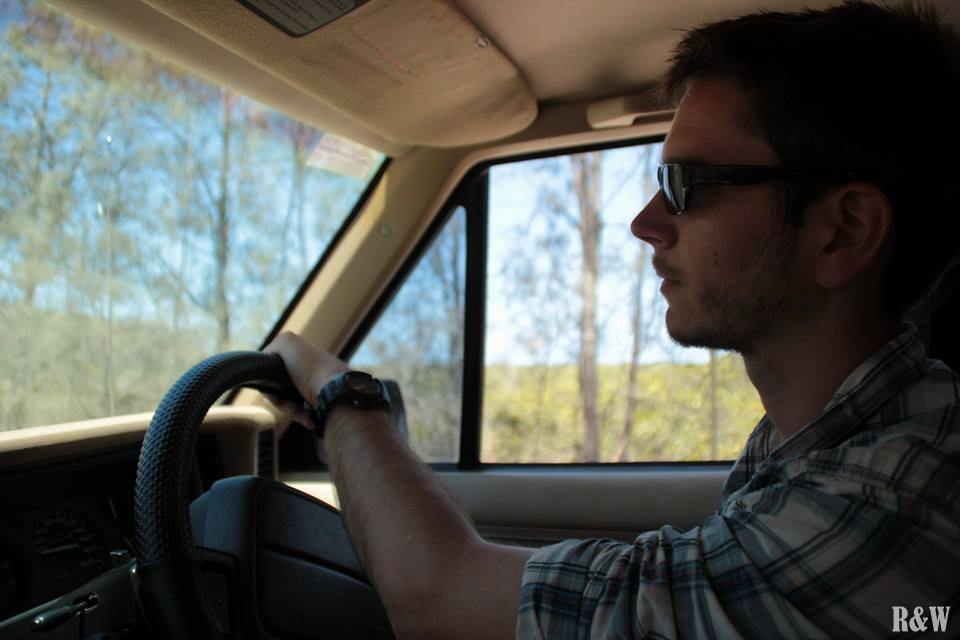 Flo, notre chauffeur pour cette journée sur Fraser Island