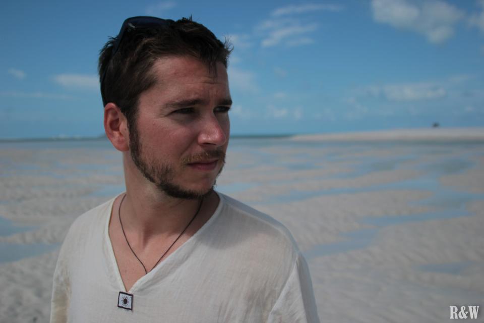 Flo sur les bancs de sable
