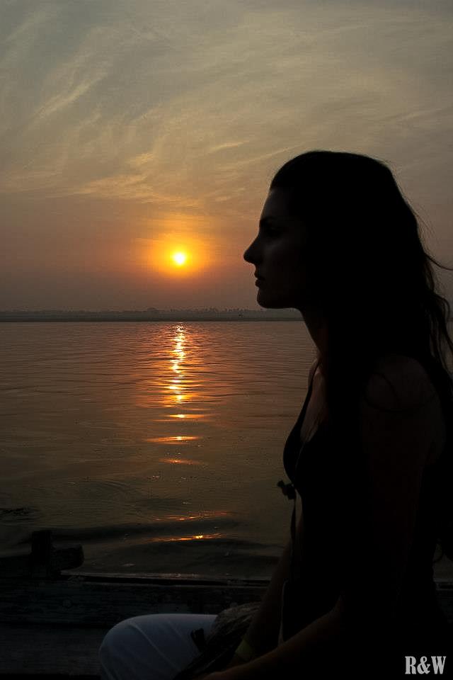 Notre chère et tendre amie Stéphanie, Varanasi, Inde