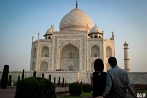 Arou et Flo, Agra, Taj Mahal, Inde