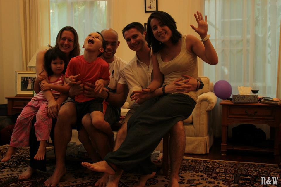 Une famille très internationale, Bangkok, Thaïlande