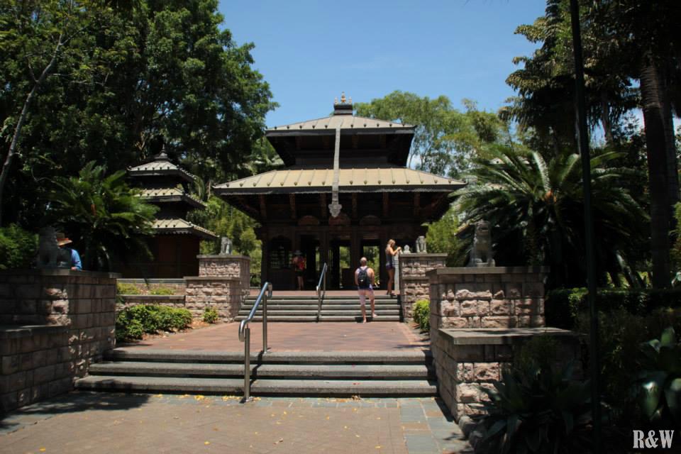 Temple népalien, l'un des trois existant hors du Népal