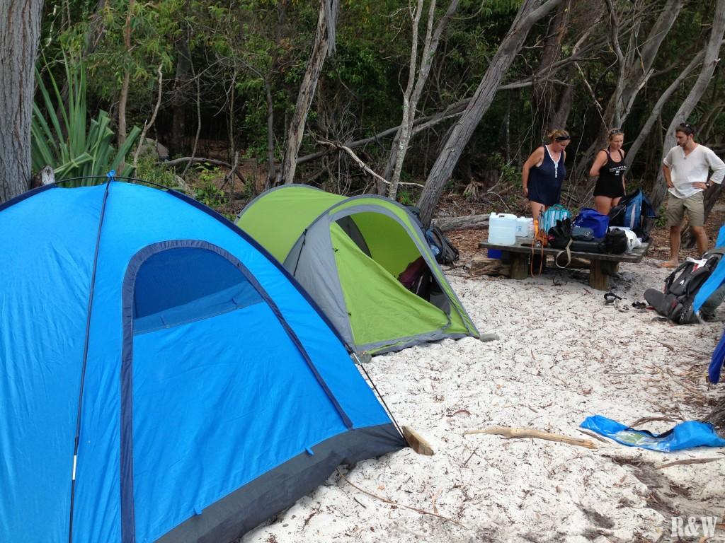 Notre camping sur Whitehaven Beach