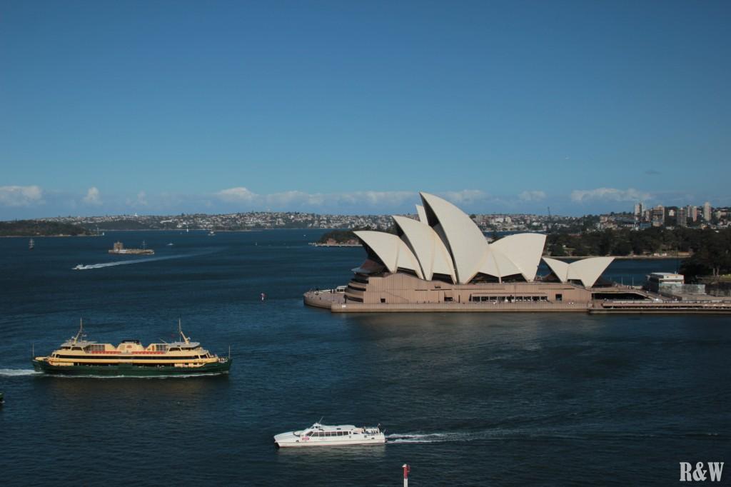 Vue de la baie de Sydney depuis Harbour Bridge