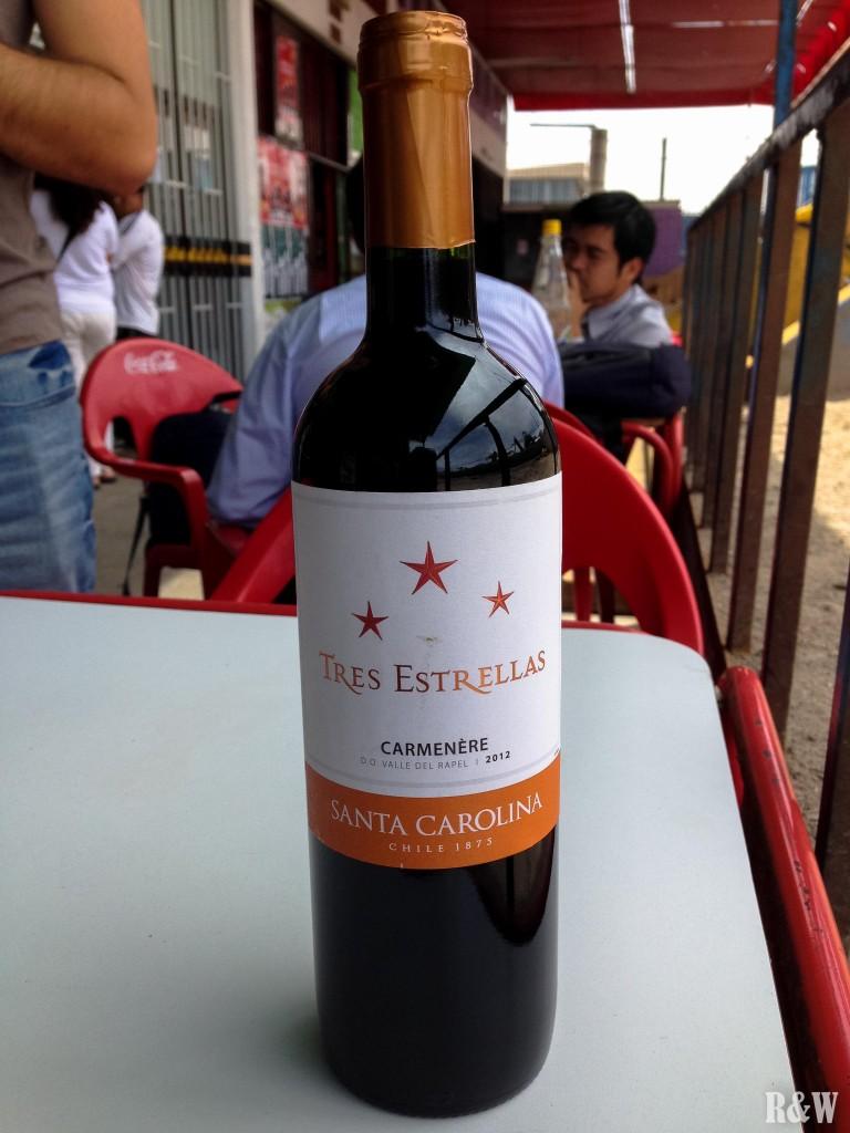 Vin rouge, cépage Carmenere