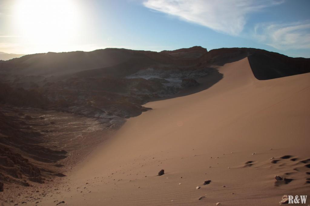 Vallée de la Lune, peu de temps avant le coucher du soleil sur la dune Mayo
