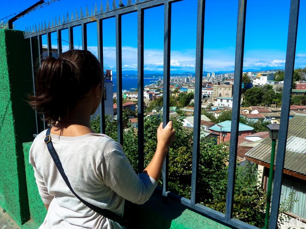 Dans les rues de Valparaiso