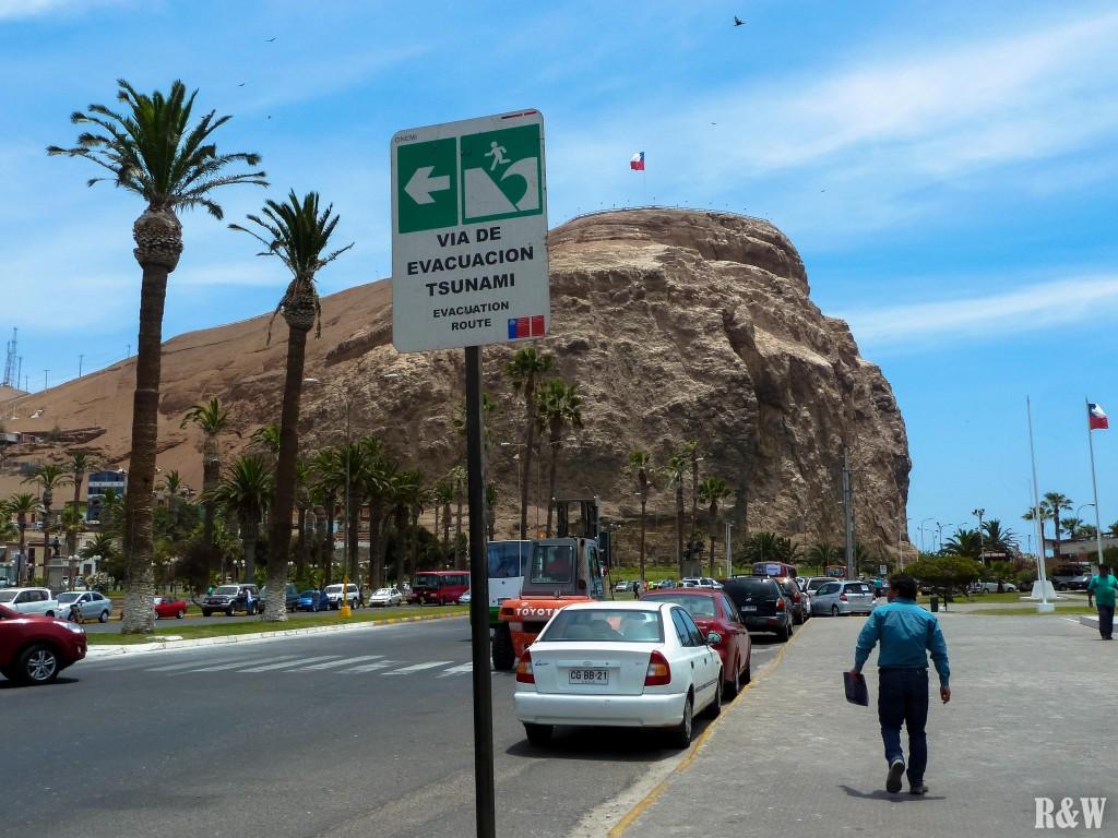 Morro de Arica, mont de 139m surplombant la mer