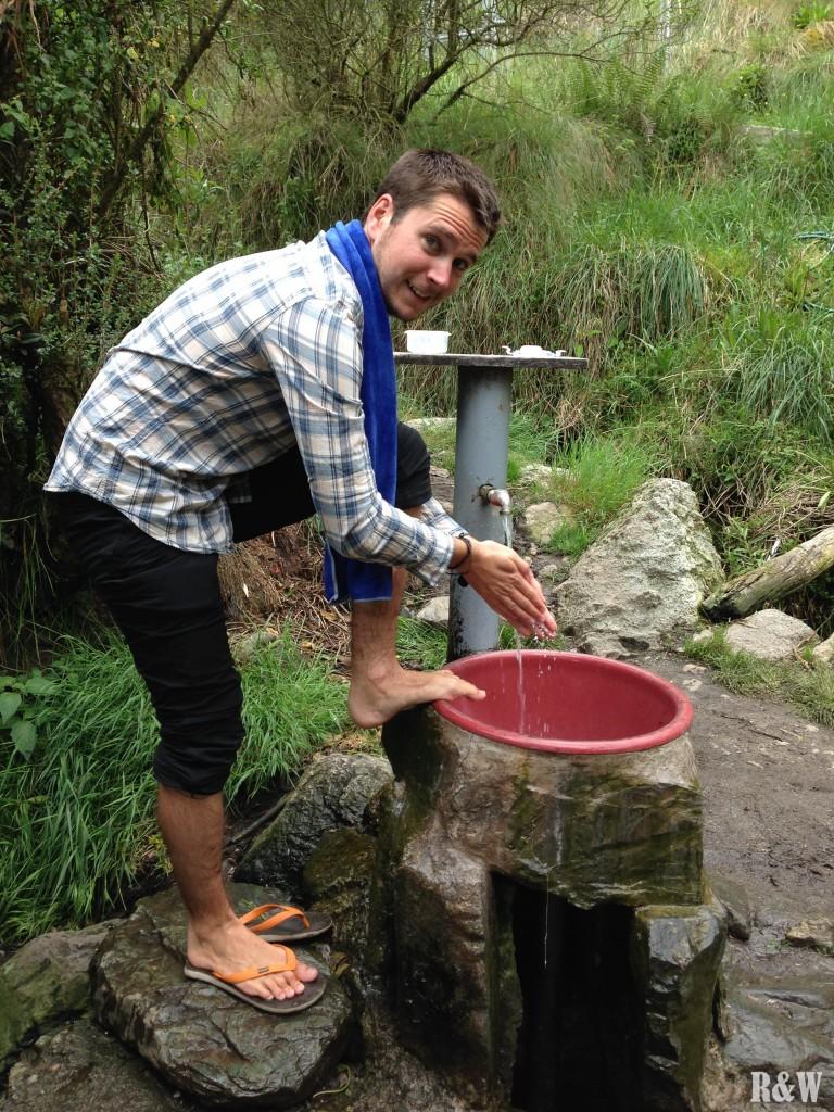 Niveau hygiène pendant l'Inca Trail, on fait ce qu'on peut avec ce qu'on a !