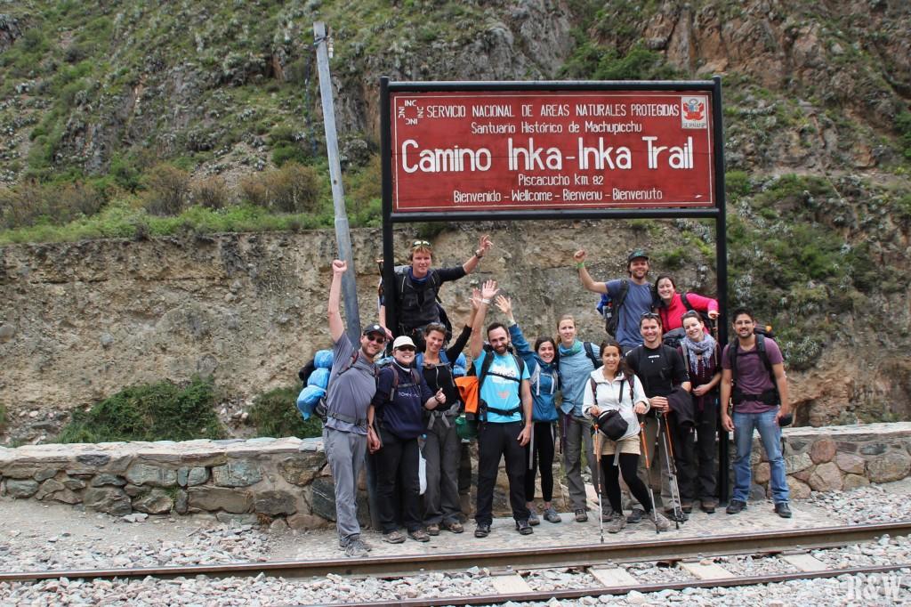 Premier checkpoint de l'Inca Trail, le départ !