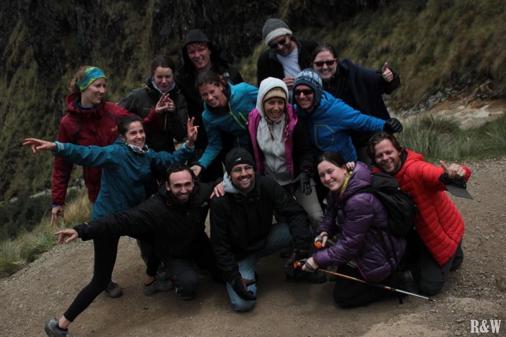 Après 5h de montée à haute altitude, on fête notre réussite arrivés à Abra Warmihuanusca