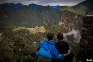 Après l'effort, le réconfort ! Enfin arrivés au Machu Picchu !