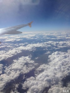 Ah oui ! C'est beau de prendre l'avion !
