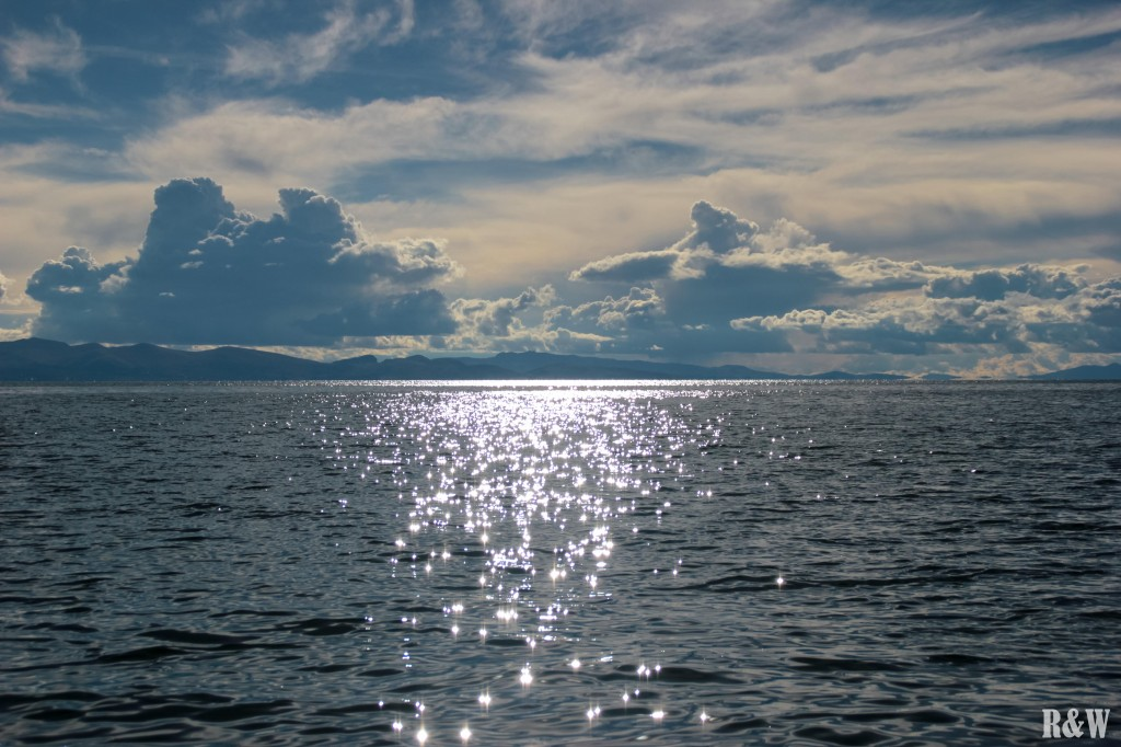 Une fin de journée sur le Lac Titicaca