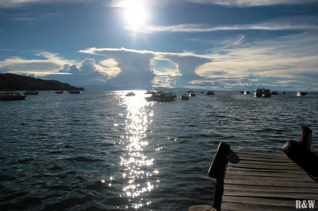 L'embarcadère pour se rendre sur l'île du Soleil