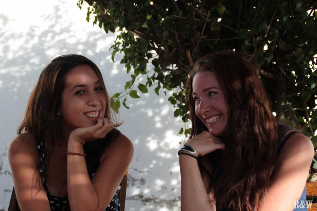 Arou et Juliane, sur la terrasse du Mirador de Sucre