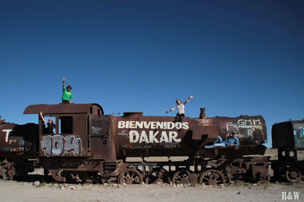 L'avant-veille du passage du Rallye Dakar 2014, toute une attraction !