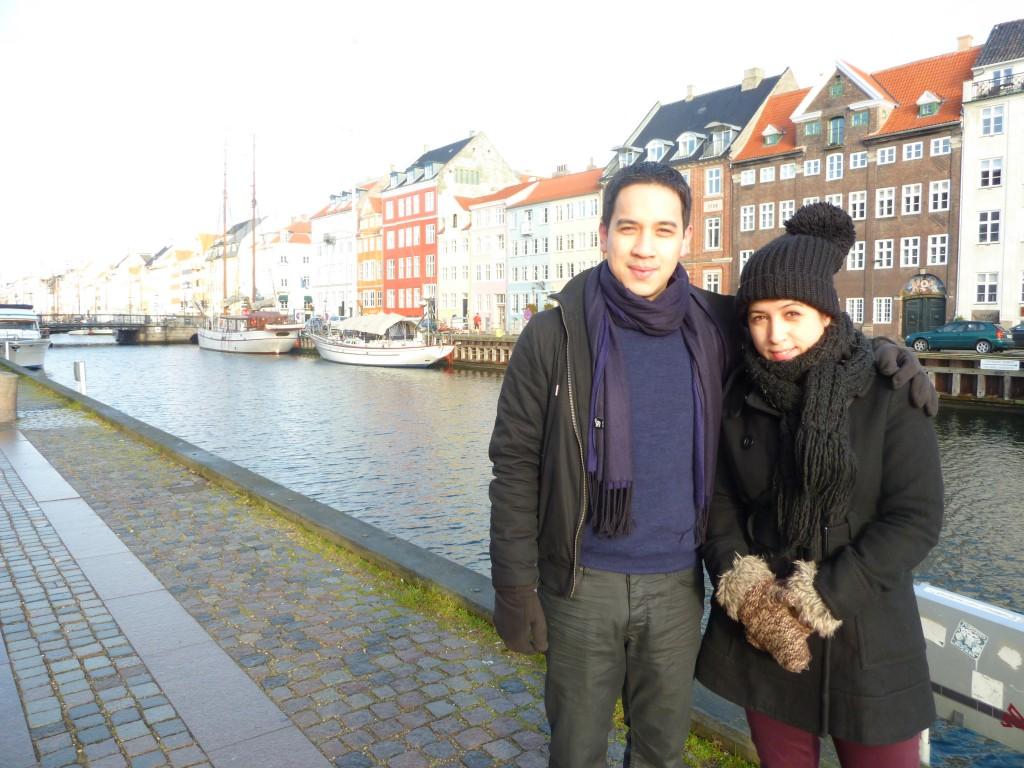 Arou et son frère à Nyhavn (Copenhague)